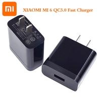Original XIAOMI 18W QC3.0 cargador rápido adaptador de carga rápida Cable de tipo C Mi 9 8 iPhone 6 5 9T A1 A2 mezcla F1 Redmi Note 7 8 K20 Pro