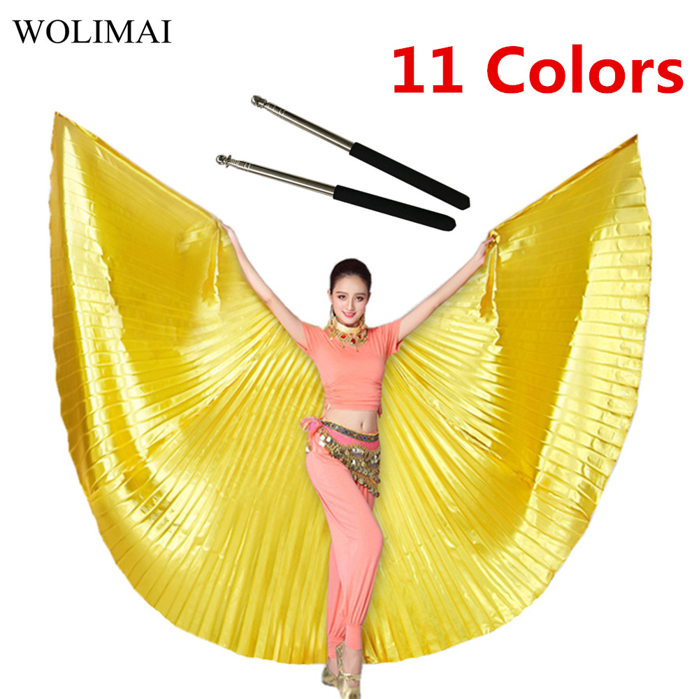 Belly Dance Isis Wings With Sticks Robs Belly Dance Accessory Bollywood Oriental Egypt Egyptian Wings Costume Adult Women Gold
