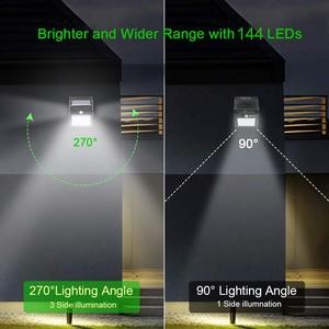 Goodland 144 100 светодиодный светильник на солнечных батареях, уличный солнечный светильник с датчиком движения PIR, солнечный светильник, уличный...
