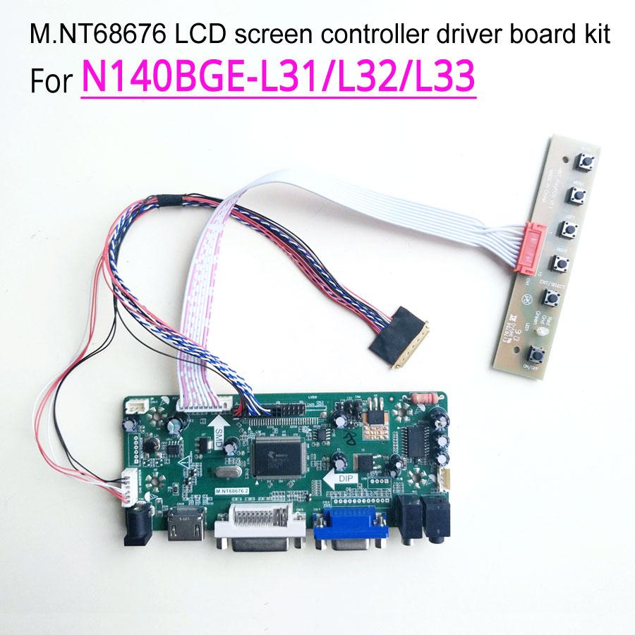 LCD Controller Board Driver kit for LTN140AT20 HDMI VGA M.NT68676 DVI