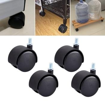 Myhomera parafuso de roda de móveis, 4 peças, rodas de mesa de móveis 40mm 48mm, sem freio, rodas giratórias, substituição de máquinas de carrinho silencioso, silencioso