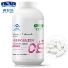 Съедобный Витамин С и витамин е таблетки VC VE пищевые добавки уход за кожей увлажняющий отбеливающий против старения