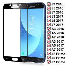 Vidro Temperado sobre Para Samsung Galaxy J3 99D J5 J7 A3 A5 A7 2016 2017 J2 J4 J7 Core J5 S7 Prime Caso Protetor de Tela do Filme de Vidro