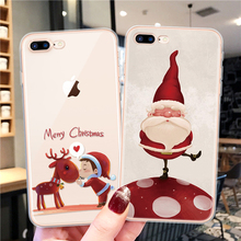 Merry Christmas Cover For iPhone 7Plus Case 7 8 6 6S Plus Ca