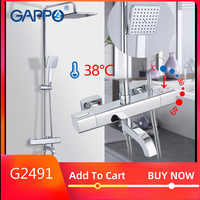 GAPPO shower system thermostatic Bathtub mixer tap waterfall faucet shower thermostat tap rainfall shower sets