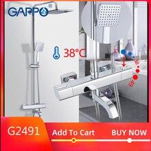 GAPPO system prysznicowy termostatyczna armatura łazienkowa tap kran wodospad prysznic termostat dotknij zestawy prysznicowe opady deszczu