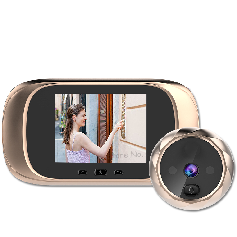 New 2.8 inch LCD Color Screen Digital Door Camera Viewer IR Night Vision Recording Peephole Electronic door bell camera For Home