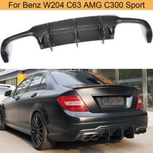 Lame de pare-choc arrière en Fiber de carbone, accessoire de voiture, Mercedes Benz W204 C63 AMG C300 Sport 2009 – 2014