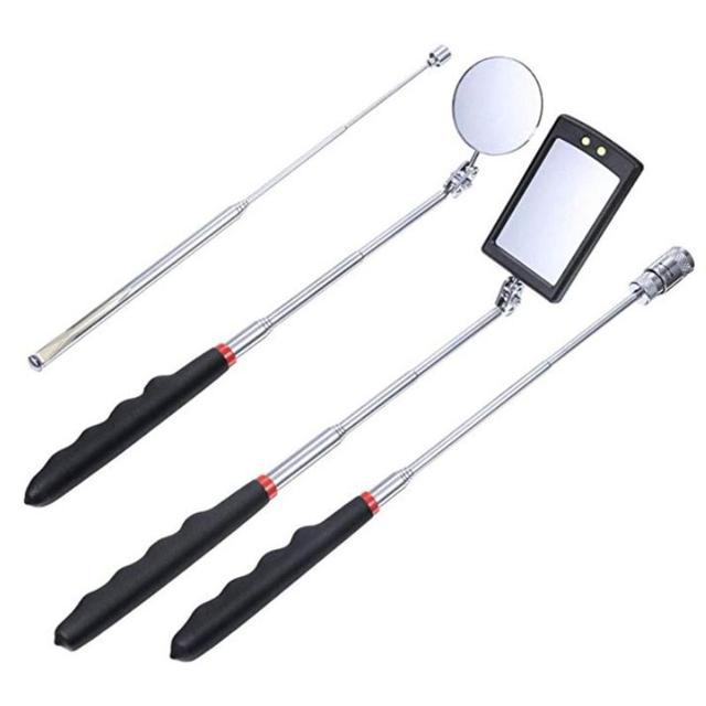 Penna angolare regolabile per auto lente di rilevamento telescopica automobilistica specchio di ispezione telescopico estensione Multi lunghezza flessibile