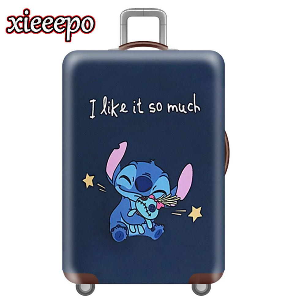 Cartoon 3D Stitch Luggage Cover Protective Case Waterproof Thicken Elastic Suitcase Cover For 18-32 Inch XL Travel Accessorie