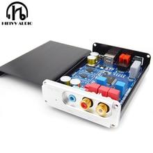 Alta fidelidade de áudio usb decodificador cm6631 es9023 usb para coaxial fibra óptica rca amplificador decodificador soundcard interface digital