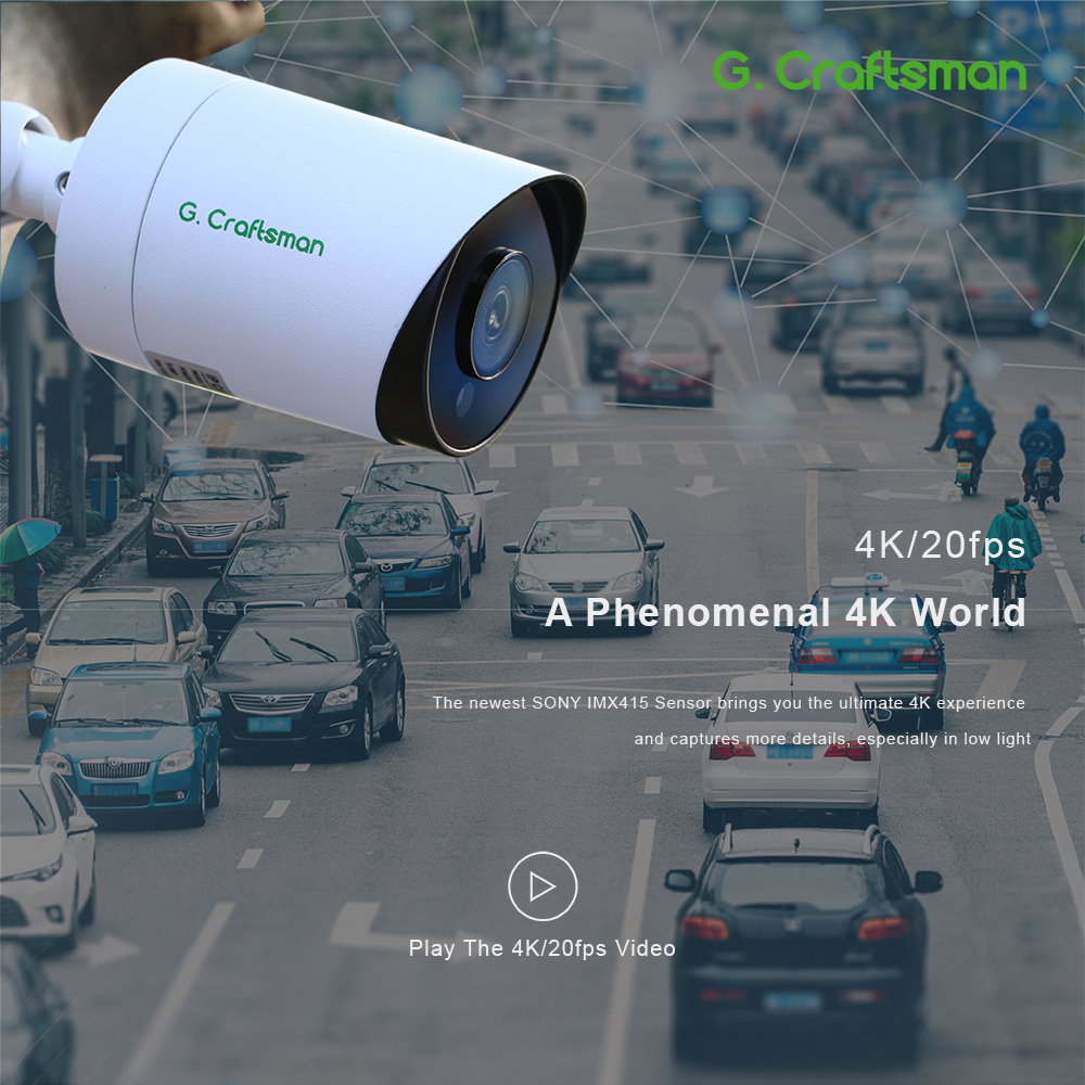 16ch 4K POE Kit System CCTV Sicherheit 8MP Sony IMAX415 H.265 NVR Im Freien Wasserdichte Audio IP Kamera Überwachung Alarm video