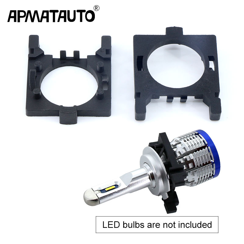 2pcs Auto LED Headlight H7 Bulbs Adapter Holder Socket Installation For Ford Focus Low Beam Head Lamp Retrofitting