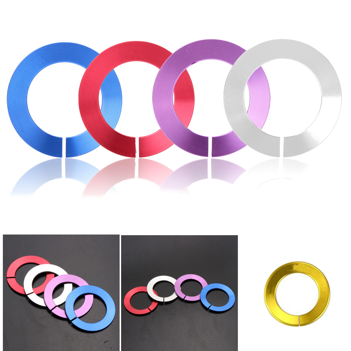 Metal Aluminium Interior Tirm Q50L QX60 Ring Trim Sticker Car Parts For Infinitis Q50 Start Stop Key shell Cover For decoration