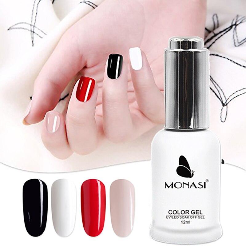 Гель лак MONASI покрытые лаком ногти 12 мл, без протирания, верхнее покрытие, резиновое Базовое покрытие, Гель лак для ногтей, удаляемый замачиванием, стойкий УФ светодиодный гель|Гель для ногтей|   | АлиЭкспресс
