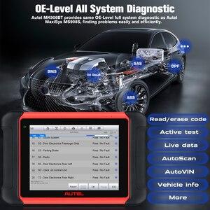 Image 4 - Autel MaxiCOM MK906BT ECU الترميز اللوحي الماسح الضوئي أداة تشخيص OBD2 اكسسوارات السيارات سماعة لاسلكية تعمل بالبلوتوث أفضل من MS906BT