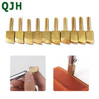 Leather Pure Brass Solder Soldering Iron Tip Burnt Edge Decorative Handmade Leather Burnt Edge For Decoration / Sealing Tools