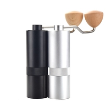 Эко кофе высокое качество ручная кофемолка 25 г алюминиевый кофе Миллер черный мини фрезерный станок для V60 одного кофе