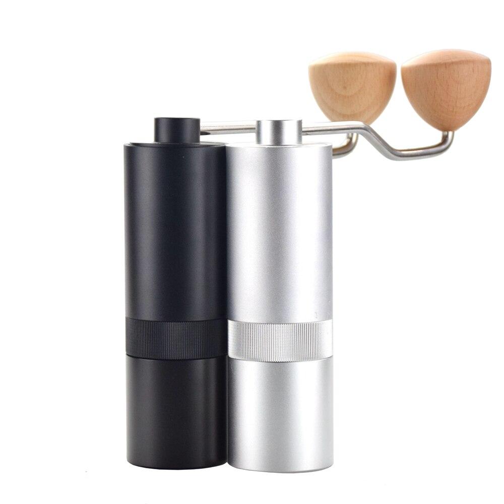 Ecocoffee 25g de Alta Qualidade Moedor de Café Manual De Café De Alumínio Miller Preto Mini fresadora para V60 Único Café