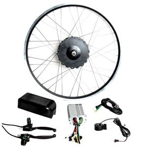 "Image 1 - New 48V1000W MAC geared rear 8T cassette hub motor Electric bike Kit 26"" 27.5"" 28 Wheel electric bike conversion kit 45km/h"