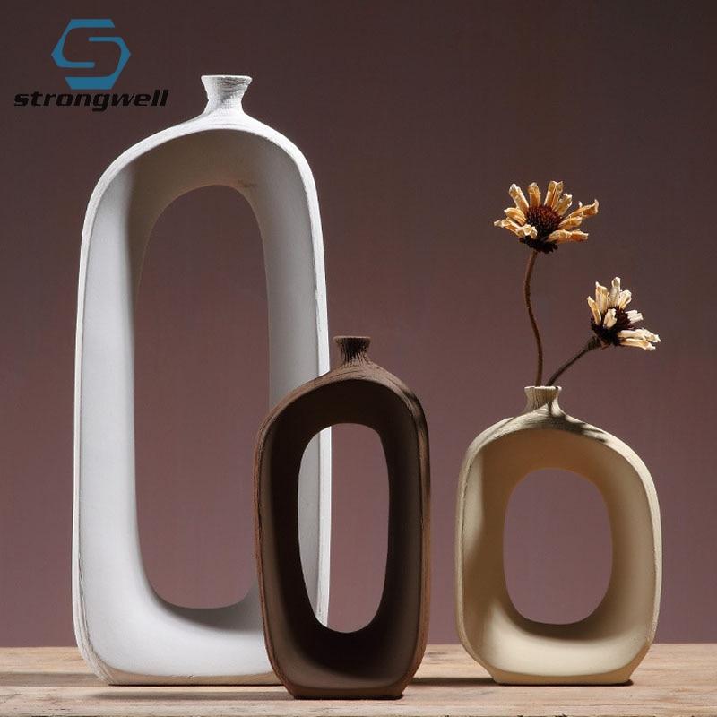 25.99US $ 40% OFF Strongwell Home Decor Porch Decoration Flower Vase Ceramic Furnishings Flower Arra...