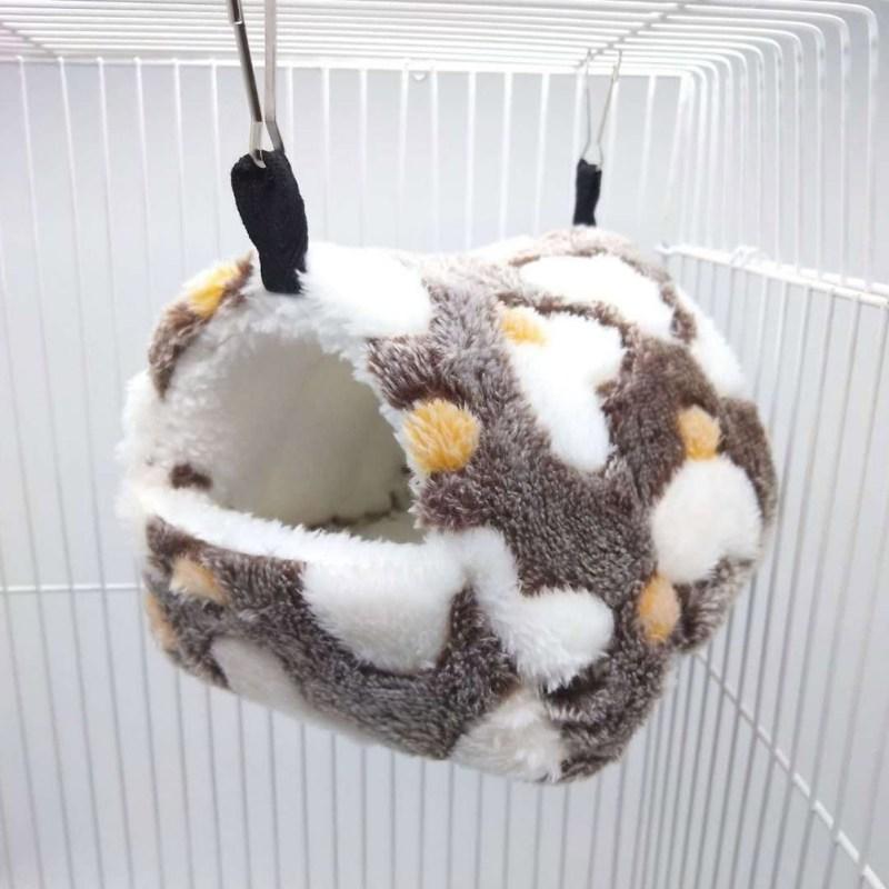 Cute Small font b Pet b font Bird Parrot Hamster Soft Comfortable Nest Plush Hanging Hammock