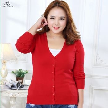 Sweater Women Cardigan plus size Knitted Sweater Coat Crochet Female Casual V-Neck Woman Cardigans Tops  4XL 5XL 1