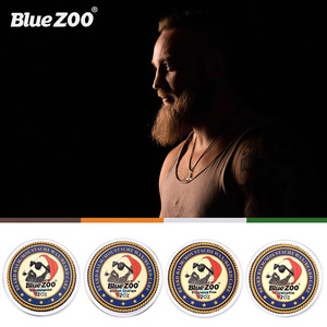 Image 5 - Blue ZOO Natural Beard Oil Balm Moustache Styling Beeswax Moisturizing Smoothing Gentlemen Beard Balm Organic Men Grooming Kit