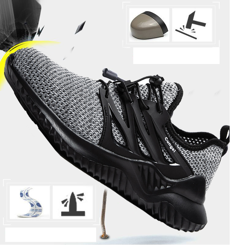 PUPUDA Safety Shoes Steel Toe Sneakers Work Safety Shoes Work Boots Good Quality Indestructible Non-slip Stab Construction Shoes
