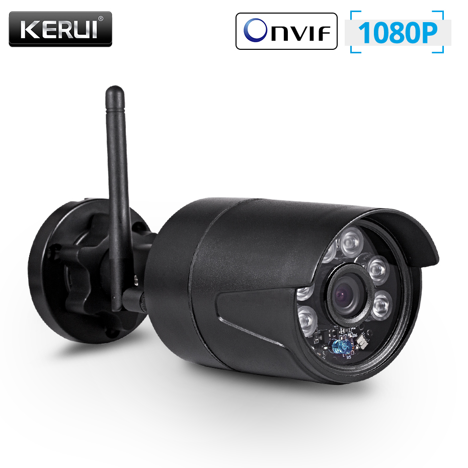 KERUI 2MP 1080P беспроводная наружная Домашняя безопасность WiFi ip камера Full HD IP54 Водонепроницаемая камера видеонаблюдения ночного видения