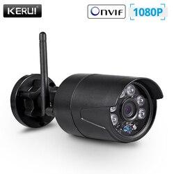 KERUI 2MP 1080P cámara de seguridad inalámbrica para el hogar al aire libre WiFi IP Full HD IP54 cámara de vigilancia a prueba de agua CCTV visión nocturna