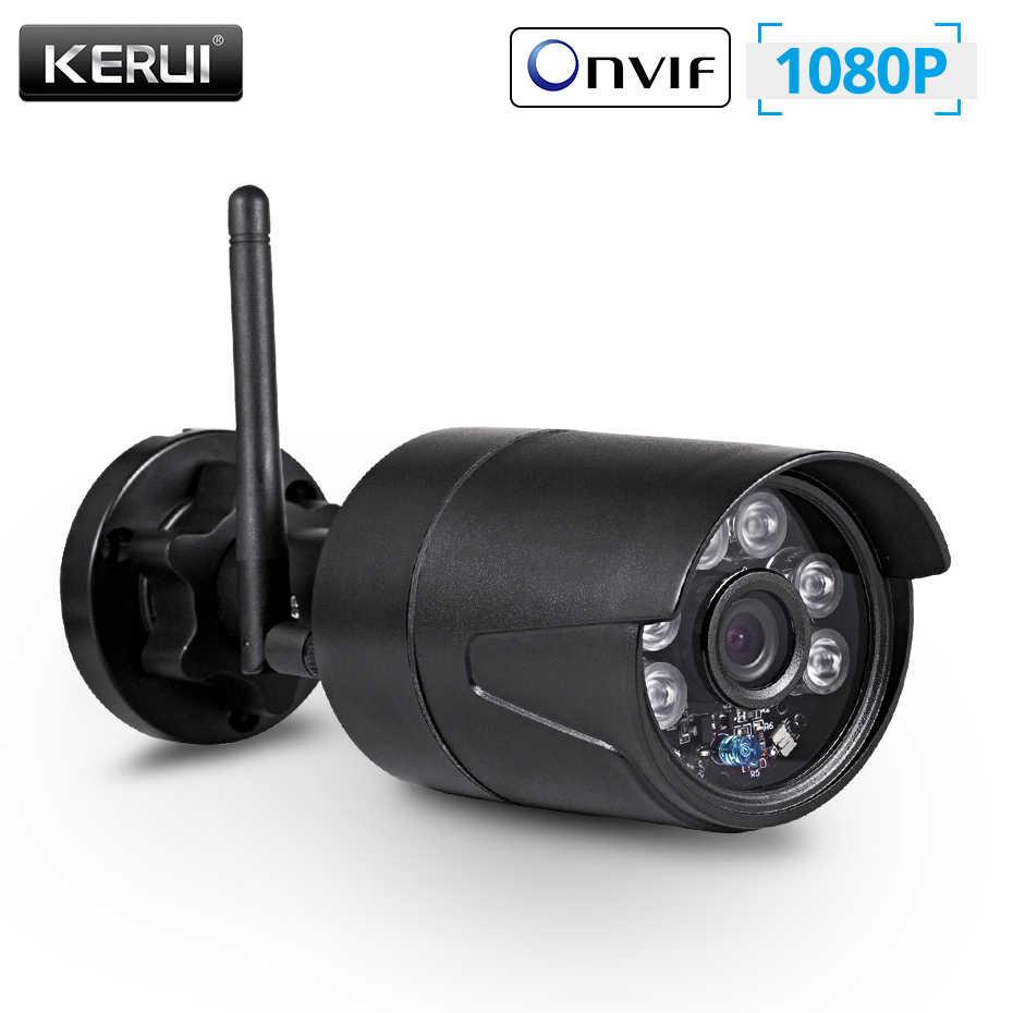 Kerui 2MP 1080P Nirkabel Outdoor Rumah Keamanan WIFI IP Camera Full HD IP54 Tahan Air Pengawasan CCTV Kamera Malam Visi