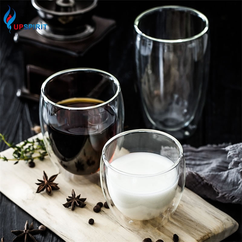 Upspirit Double Wall Layer Glass Cup Transparent Beer Water Drinking Glasses Coffee Milk Mug Tumbler Bar Accessories Drinkware|Transparent| |  - title=