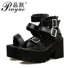 Fashion Buckle Gladiator Sandals Women High Heels S