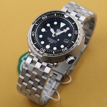Reloj de buceo Steeldive 1975 atún 300m, reloj de pulsera automático de acero inoxidable y cerámica con bisel NH35 para hombre, relojes mecánicos a la moda