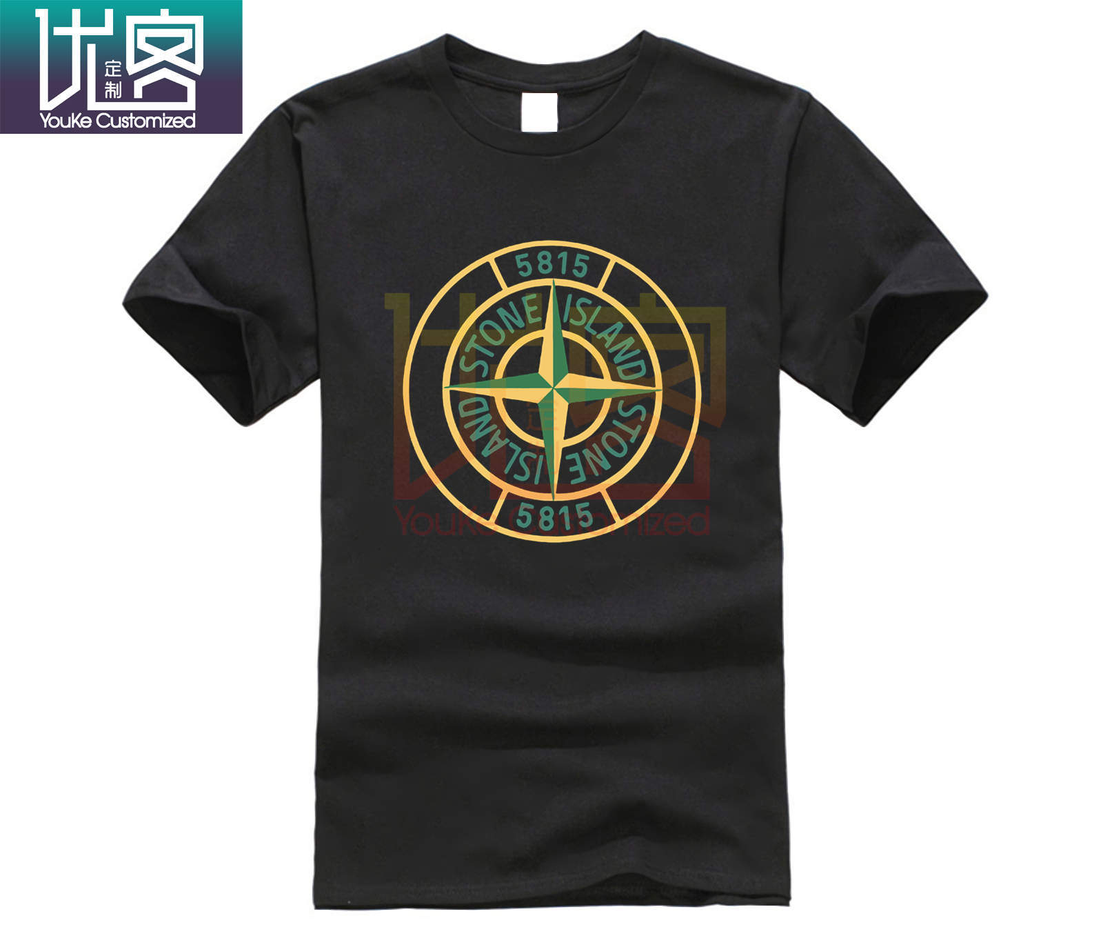 Summer NEW Stone-Island Limitied Edition Men's Black T-Shirt