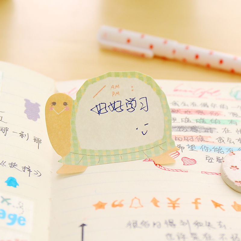 XQingmei 40 Pieces Boxed Handmade Color Cute Elephant Little Duck Resin Pushpin Message Board Paste Painting Photo Postcard Note Paper Decoration Thumbtack