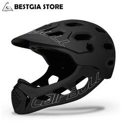 Велосипедный шлем Cairbull для взрослых с полным лицевым покрытием, шлем Casco MTB для горной дороги, велосипедный шлем с полным покрытием, мотоцикл...