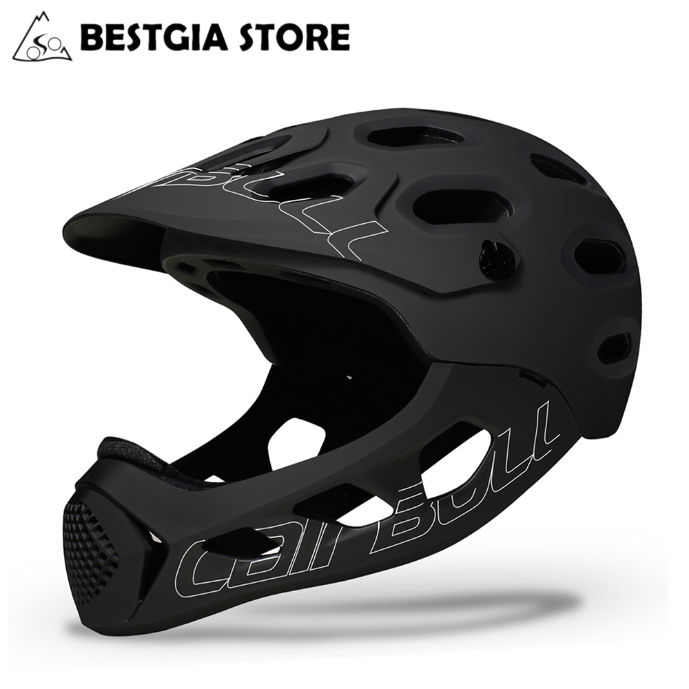 Cairbull Adult Full Face Bike Helmet Casco MTB Mountain Road Bicycle Full Covered Helmet Motorcycle DH Downhill Cycling Helmet