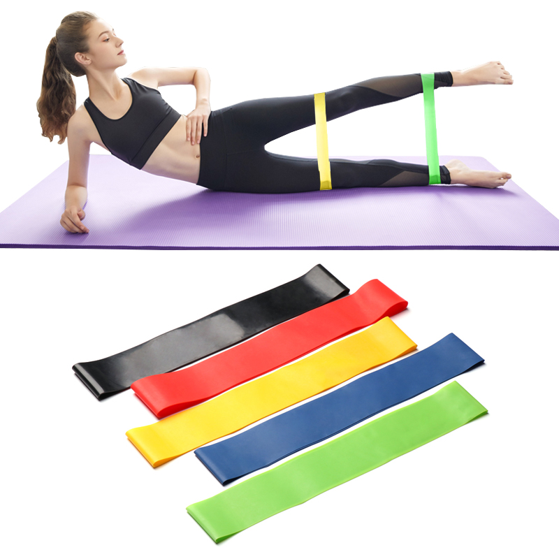 5 Colors Yoga Resistance Rubber Bands Indoor Outdoor Fitness Equipment 0 35mm 1 1mm Pilates Sport Training Workout Elastic Bands Slimming Product Aliexpress