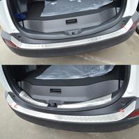 Car Car Inner Outer Rear Trunk Bumper Foot Trim Tail Door Sill Scuff Protection Plate for Volkswagen Tiguan 2014 2015