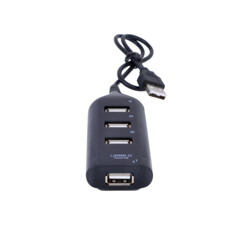 High Speed Micro Mini 4 Ports 2.0 USB HUB splitter Adapter For Laptop PC Notebook Receiver Computer Peripherals Accessories
