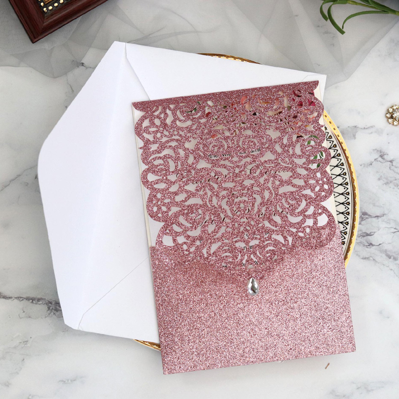 Best Wedding Invitation Card With Crystal Ideas And Get Free Shipping A310