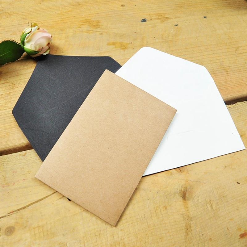 20pcs/lot Black White Craft Paper Envelopes Vintage European Style Envelope For Card Scrapbooking Gift