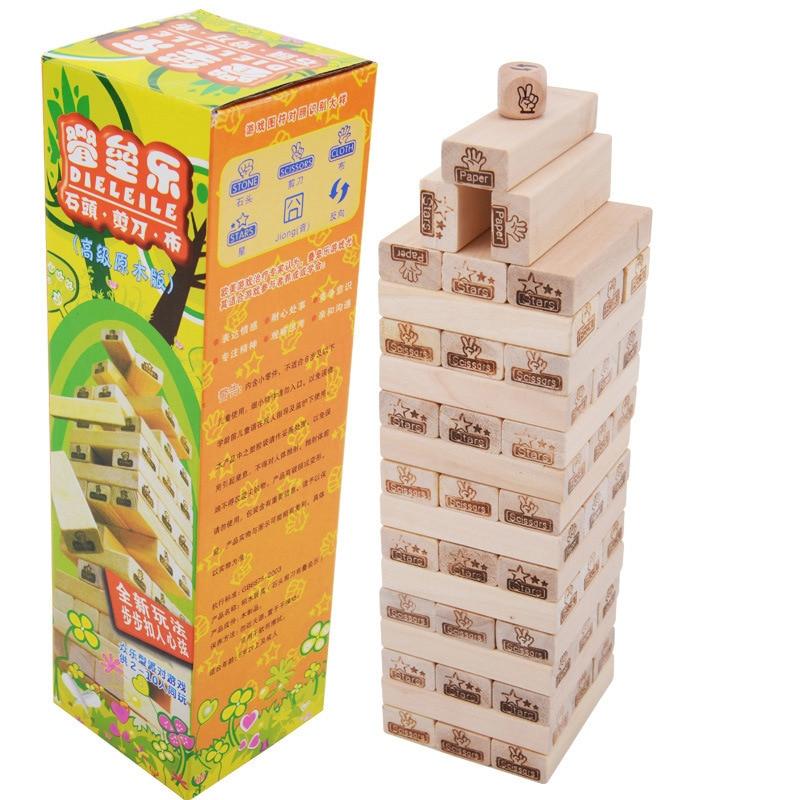 48PCS Wooden Blocks Building Jenga Pulling building blocks Children Educational Toys children toys