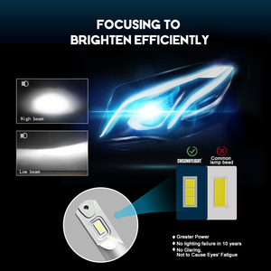Image 3 - CNSUNNYLIGHT Siêu Sáng H7 H4 LED H11 H8 110W 16000Lm D1 Bóng Đèn Pha HB4 9005 HB3 Đèn Tự Động 6500K Ô Tô Phụ Kiện
