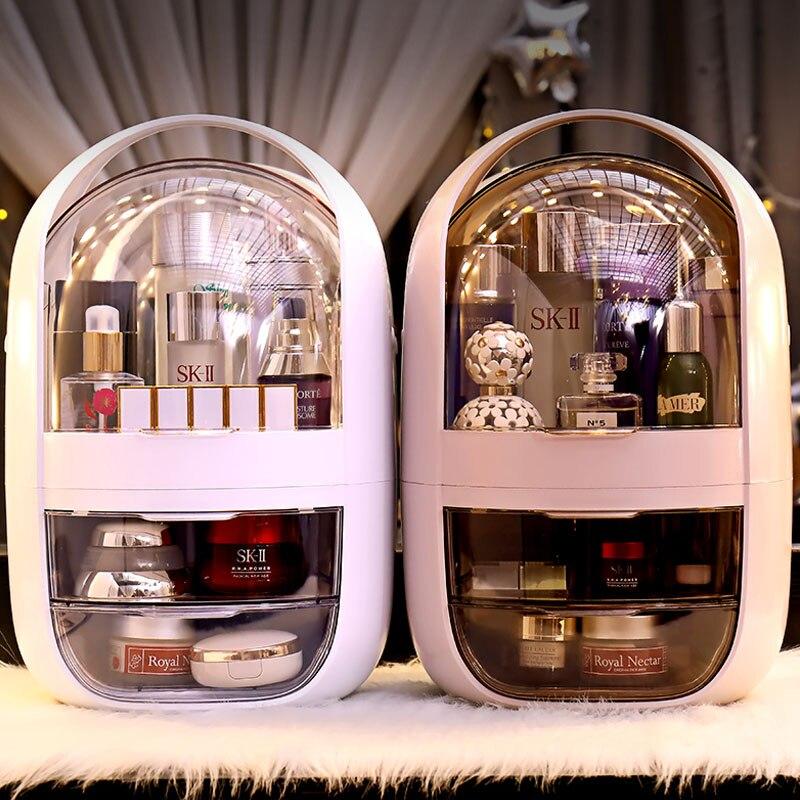 Transparent Cosmetic Storage Box Creative Portable Desktop Storage Box Storage Box Waterproof Drawer Beauty Storage Box
