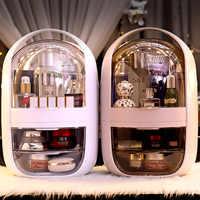Trasparente Scatola di Immagazzinaggio Cosmetici Creativo Portatile Desktop Scatola di Immagazzinaggio Scatola di Immagazzinaggio Del Cassetto Scatola di Immagazzinaggio di Bellezza