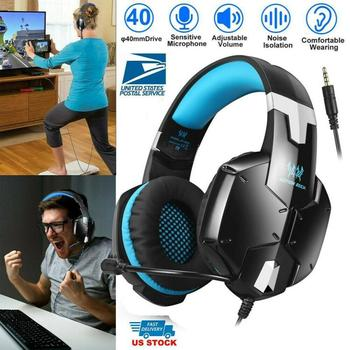 G1200 Gaming Headset Gaming Quality Stereo Surround Sound With Microphone For PC PS4 XBOX 3.5 Mm Headphone Jack 2