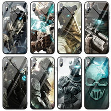 Soldier Multi Tempered Glass Phone Cases for iPhone X XR XS 11 Pro Max Case Back Cover for iPhone 5 5S SE 6S 7 8 Plus Bags(China)